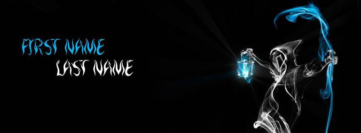 Black Death Facebook Cover With Name
