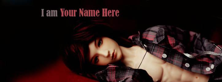 Boy Doll Facebook Cover With Name