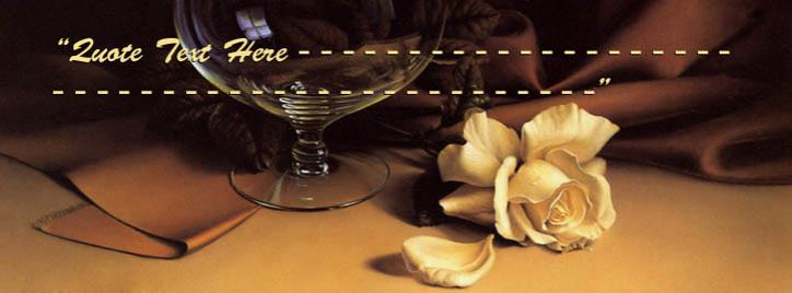 Broken White Rose Facebook Cover With Name