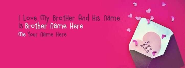 Brother Sister Love Facebook Cover With Name