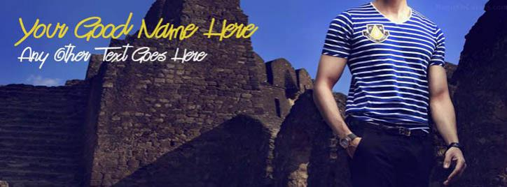 Cool Men Fashion Facebook Cover With Name