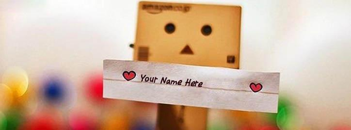 Cute Danbo Facebook Cover With Name