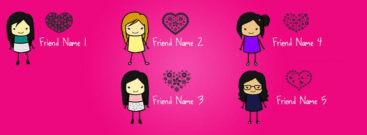 Cute Girls Best Friends Facebook Cover With Name