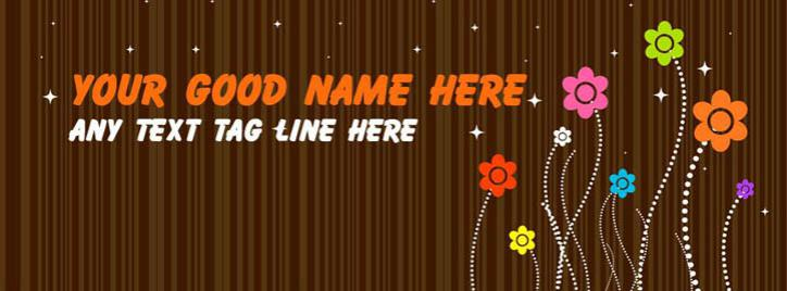 Cute Little Flowers Facebook Cover With Name