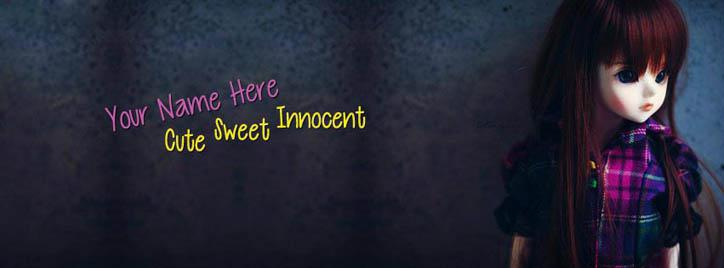 Cute Sweet Innocent Facebook Cover With Name