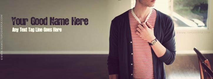 Dashing Stylish Boy Facebook Cover With Name