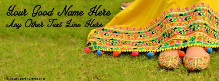 Desi Stylish Girl Facebook Cover With Name