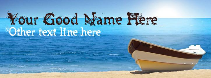 Dreamy Beach Facebook Cover With Name
