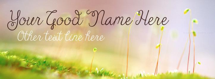 Early Spring Facebook Cover With Name