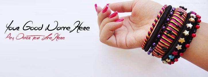 Elegant Bracelet Facebook Cover With Name