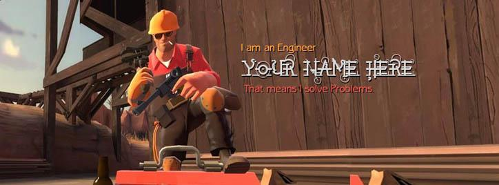 Engineer Facebook Cover With Name