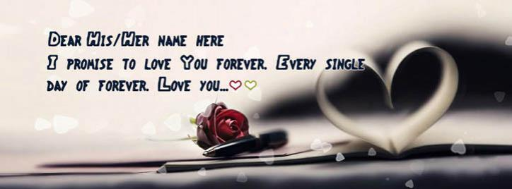 Every single day of forever Facebook Cover With Name
