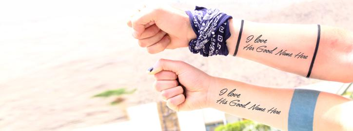 Expressing Love Facebook Cover With Name
