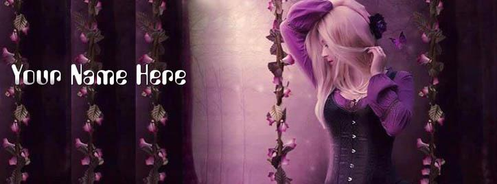 Fantasy Girl Facebook Cover With Name