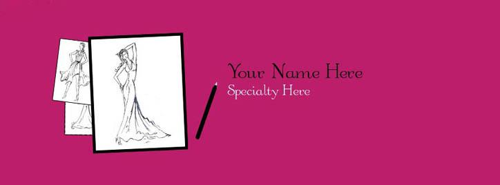 Fashion Designer Facebook Cover With Name