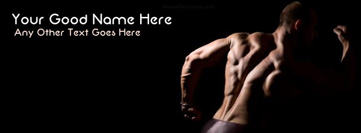 Fitness Boy Facebook Cover With Name