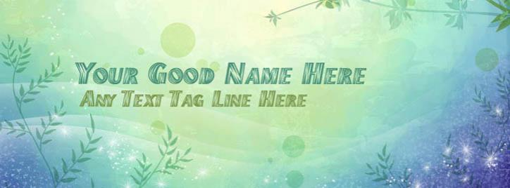 Floral Pixel Facebook Cover With Name