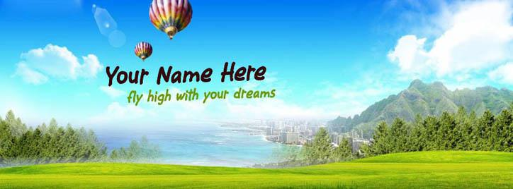 Fly high with your dreams Facebook Cover With Name