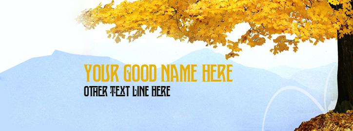 Fun Filled Autumn Facebook Cover With Name