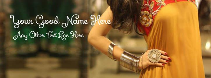Girl Summer Party Dress Facebook Cover With Name