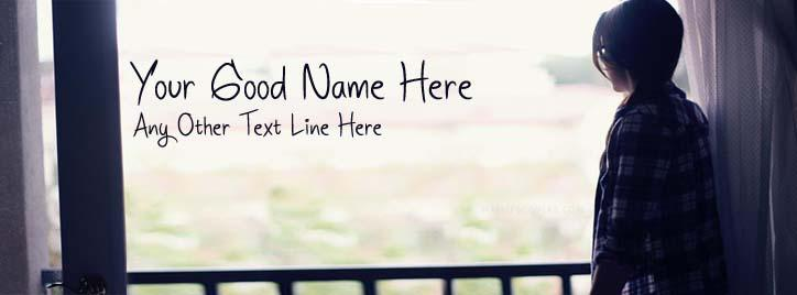 Girl Waiting Facebook Cover With Name