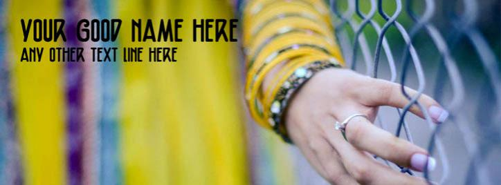 Girl with That Ring Facebook Cover With Name
