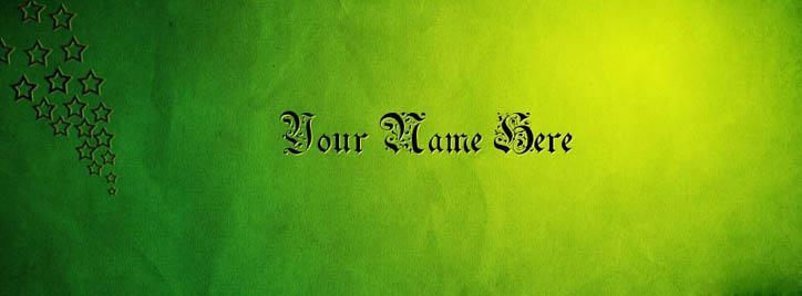 Green Gothic Style Facebook Cover With Name