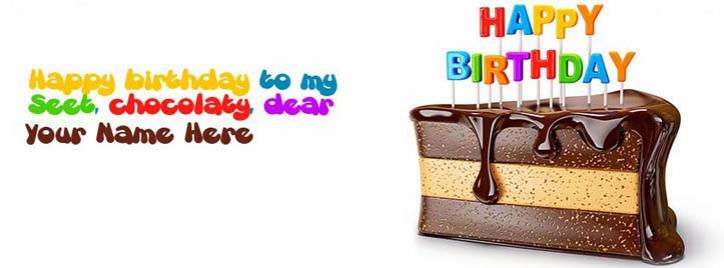 Happy Birthday My Friend Facebook Cover With Name