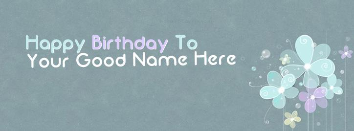 Happy Birthday to Me Facebook Cover With Name