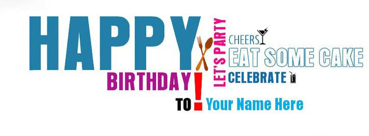 Happy Birthday To You Facebook Cover With Name