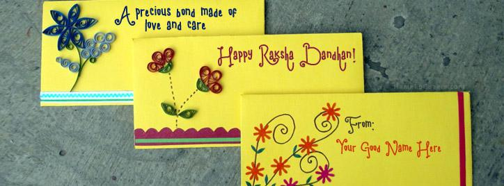 Happy Raksha Bandhan Wish Facebook Cover With Name