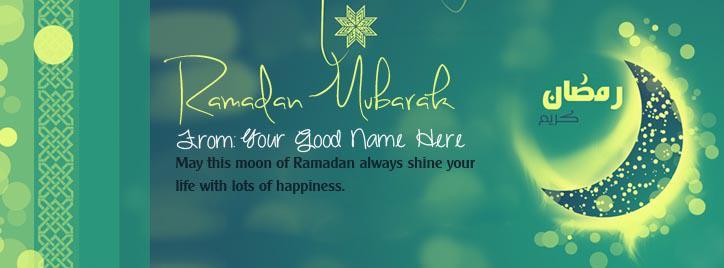 Happy Ramadan Mubarak Facebook Cover With Name