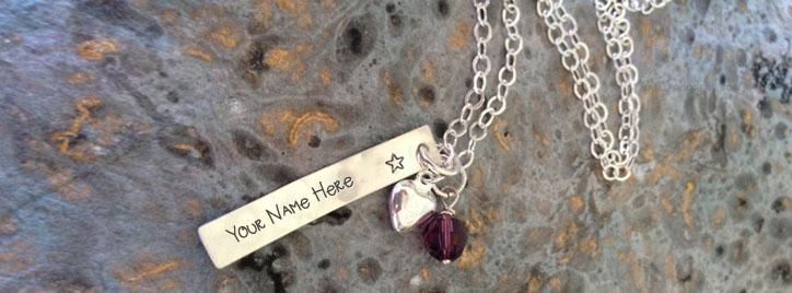 Heart Bar Necklace Facebook Cover With Name