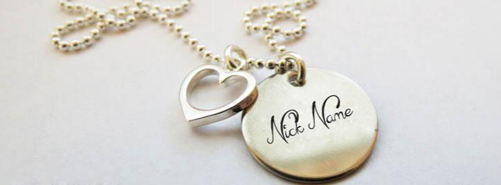 Nick Heart Necklace Facebook Cover With Name