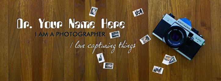 I am a Photographer Facebook Cover With Name