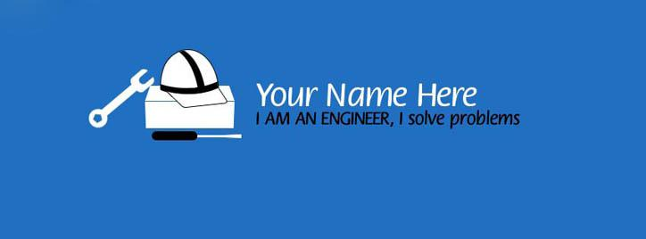 I am an Engineer Facebook Cover With Name