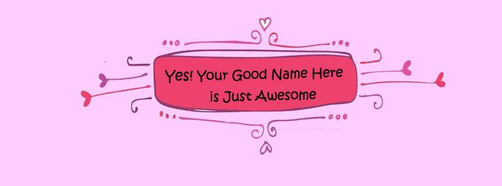 I am Awesome Facebook Cover With Name