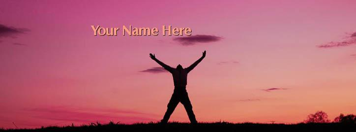I am Free Facebook Cover With Name