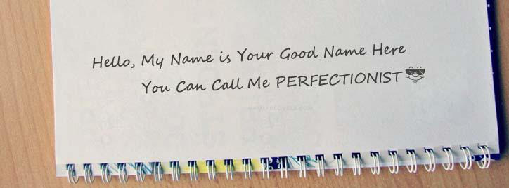 I am Perfectionist Facebook Cover With Name
