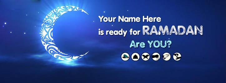 I am Ready for Ramzan Facebook Cover With Name