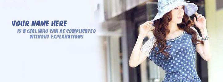 I can be Complicated Facebook Cover With Name