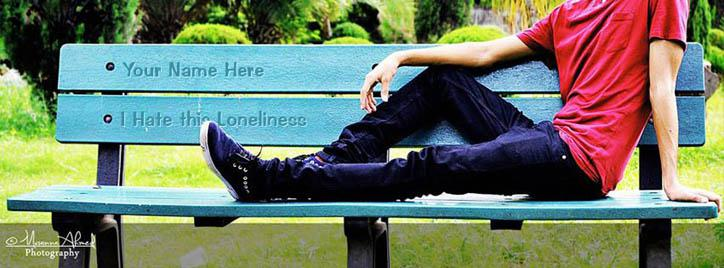 I Hate This Loneliness Facebook Cover With Name