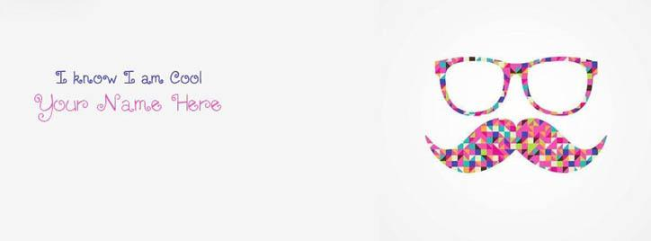 I know I am Cool Facebook Cover With Name
