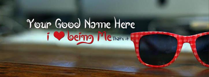 I love being Me Facebook Cover With Name