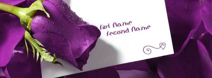 Indigo Rose Note Facebook Cover With Name