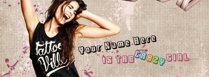 Is the Crazy Girl Facebook Cover With Name