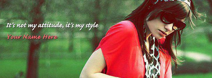 Its my style Facebook Cover With Name
