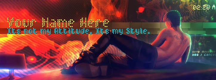 Its not my attitude its my style Facebook Cover With Name