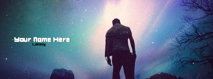 Lonely Boy Facebook Cover With Name