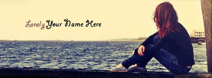 Lonely Girl Facebook Cover With Name